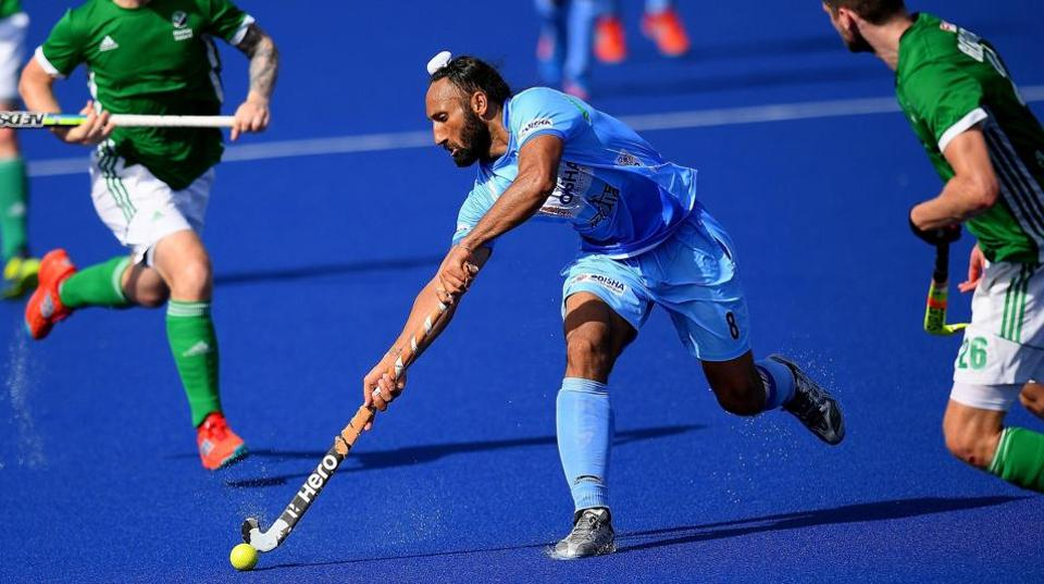 Indian hockey team's Sardar Singh (C) was dropped for the 2018 Commonwealth Games to be held in Gold Coast.