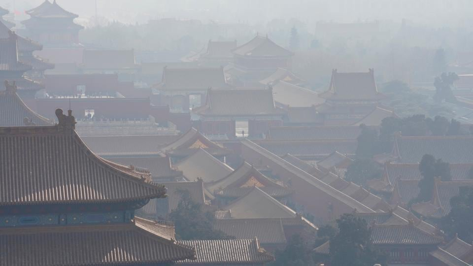 A file photo of the Forbidden City seen amid smog ahead of Chinese Lunar New Year in Beijing, China on February 13.