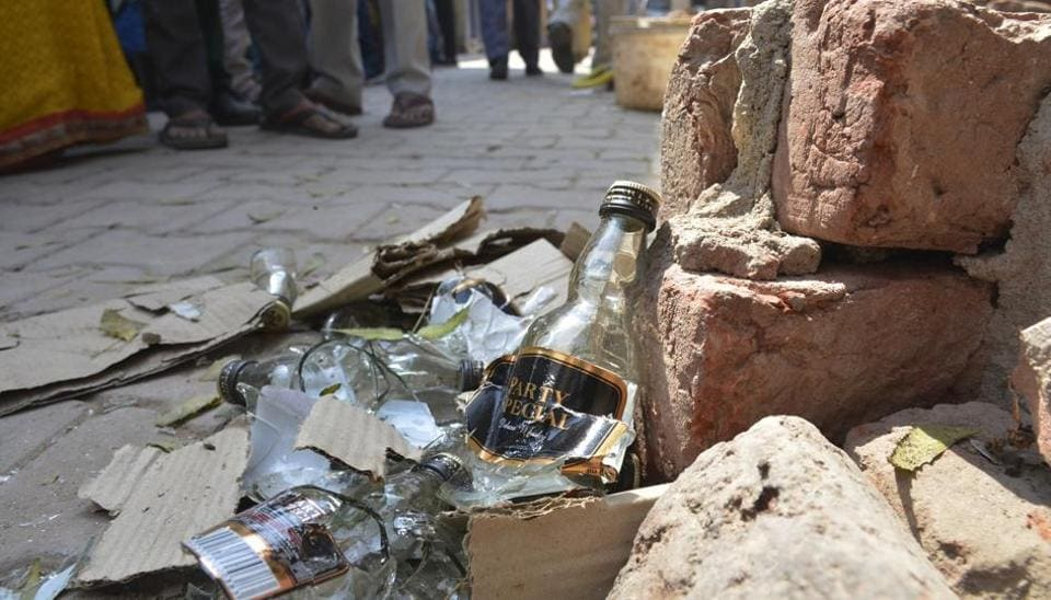 Residents held several protests in Khoda on Tuesday and also smashed illicit liquor bottles.