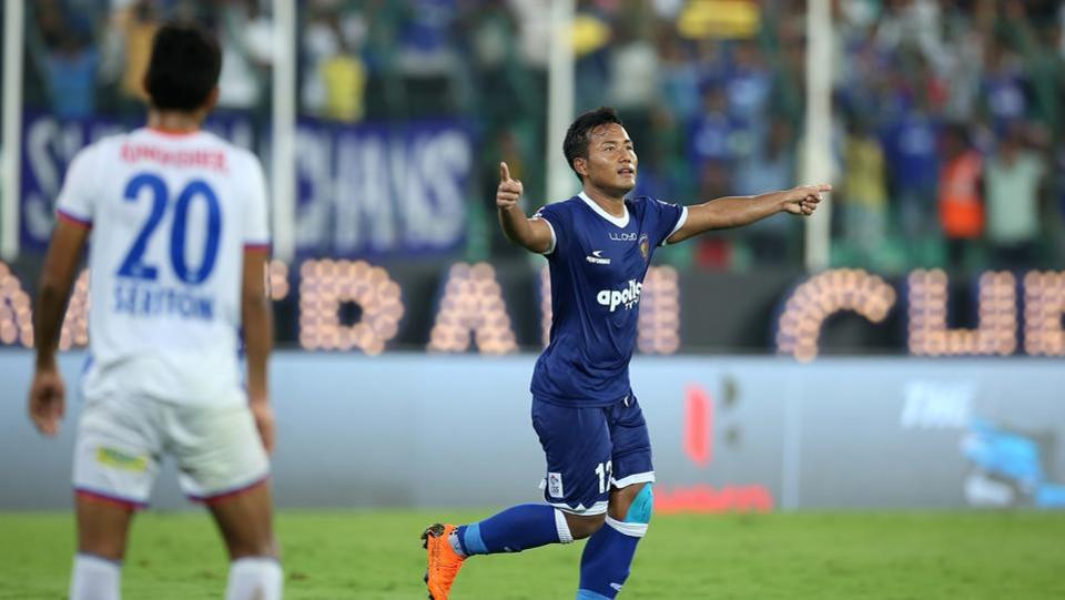 Jeje Lalpekhlua scored twice as Chennaiyin FC reached their second Indian Super League final in three years.