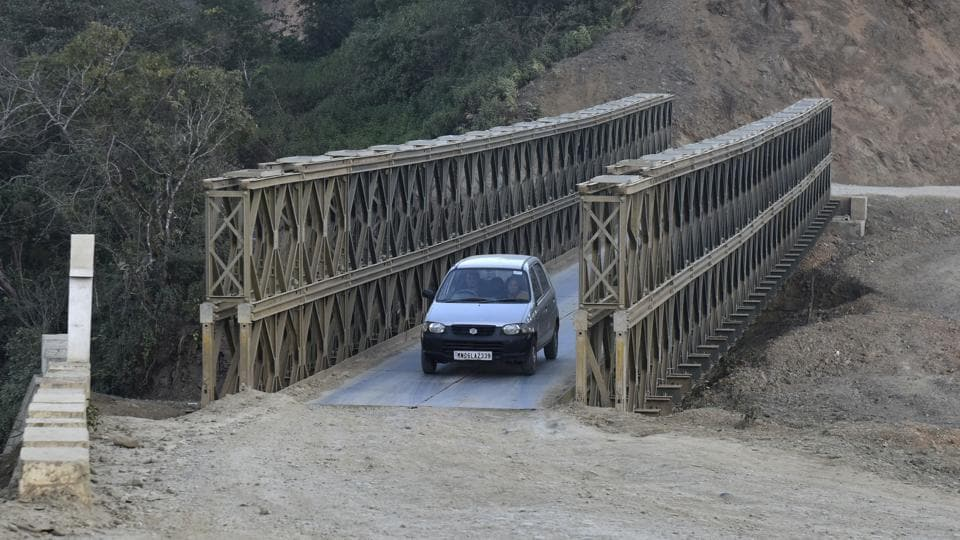 Girls from Manipur are usually taken via Moreh to Tamu in Myanmar (using this bridge) while girls from Mizoram are taken through Zokhawthar village. A thriving market on both sides of the border and a visa-free movement regime ensures no one gets suspicious. (Vipin Kumar / HT Photo)