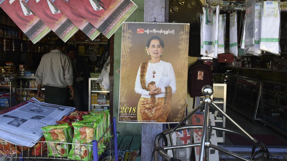 """A grocery store is seen at Tamu town along the Moreh friendship border in Manipur. It is a well-oiled system, says L Pishak Singh, secretary, New Life Foundation, Manipur: """"The conviction rate is very low. Some victims of trafficking also go on to become agents."""" One such is Esther Lalpianmawii, who started recruiting girls after returning home. At least 40 girls were sent to South-East Asia through her."""" (Vipin Kumar / HT Photo)"""