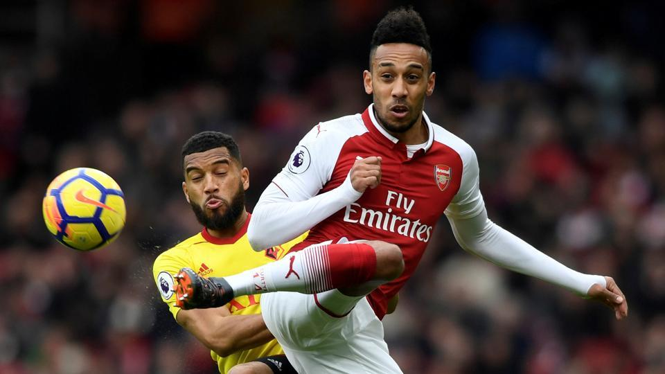 Pierre-Emerick Aubameyang played for former club Borussia Dortmund in the Champions League this season and UEFA's 'cup-tied' rule prevents him from representing his new team in Europe for the rest of the season