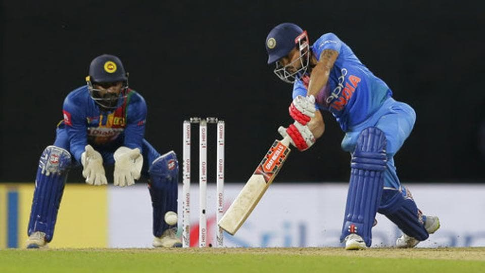 Manish Pandey helped India beat Sri Lanka by six wickets in the Nidahas Trophy T20 series in Colombo on Monday.