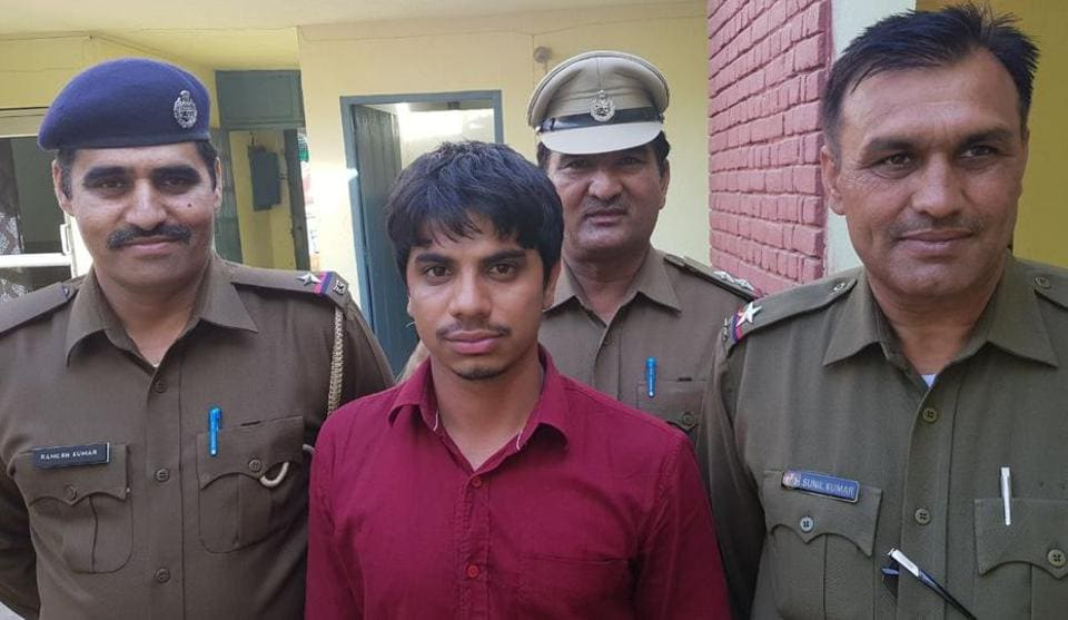 The Sonepat Police  on Wednesday arrested murder suspect  Jagmal Singh, who allegedly shot dead a professor in a Sonepat college on Tuesday.