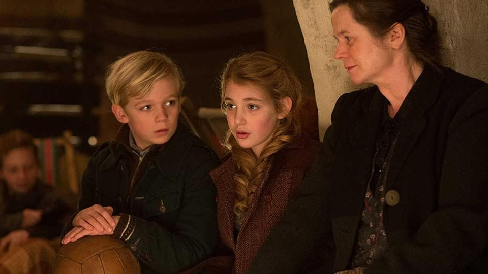 A still from the 2013 movie adaptation of Markus Zusak's best-selling novel, The Book Thief.