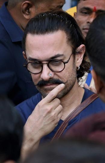 Aamir khan arrives for the shoot of Thugs of Hindostan in Jodhpur.