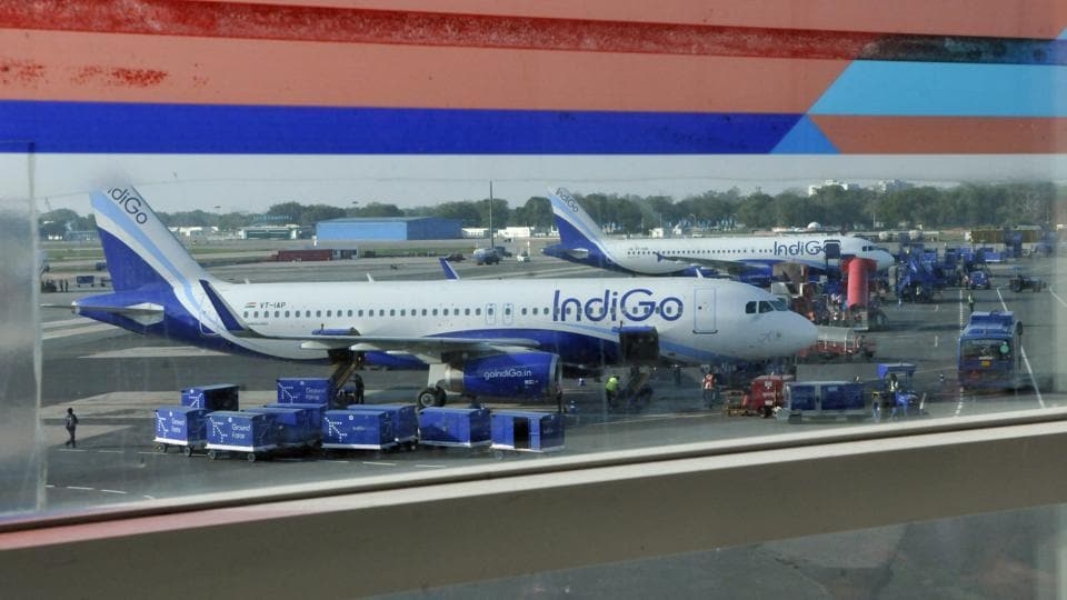 Low-fare carrier IndiGo cancelled 42 flights and GoAir six on Wednesday, as 11 of their 320 Neo aircraft remained grounded for the third day on the orders of the aviation regulator. According to IndiGo's website, fliers at airports such as Delhi, Mumbai, Hyderabad, Bengaluru, Chennai, Kolkata, Pune, Dehradun and Srinagar were affected by the cancellations. (Vipin Kumar / HT File)