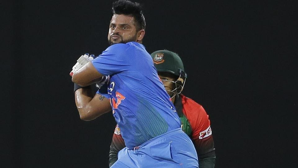 Suresh Raina played a very significant innings which helped accelerate India's score. The left-hander eventually made a 30-ball 47. (AP)