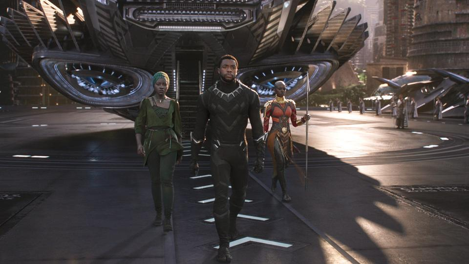 A still from the movie Black Panther.