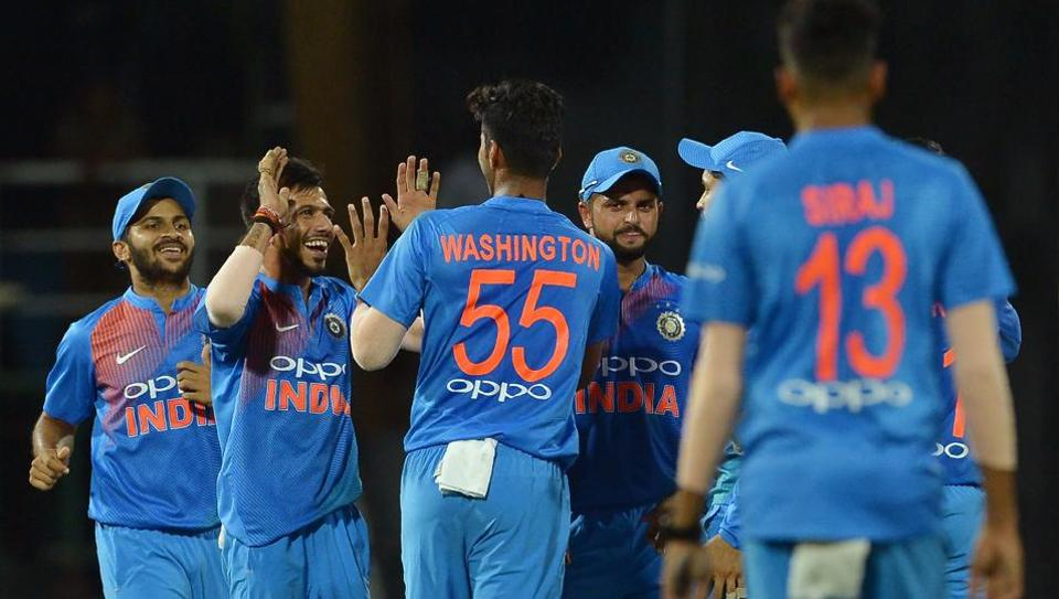 India defeated Bangladesh by 17 runs in the 5th match of the Twenty20 International tri-series to qualify for the final of the Nidahas Trophy in Colombo on Wednesday. (AFP)