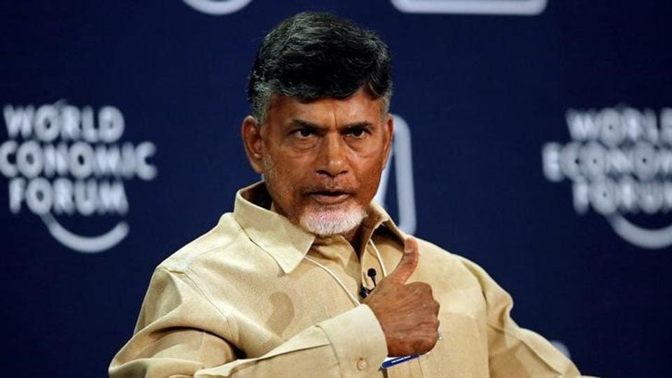 N  Chandrababu Naidu, chief minister of Andhra Pradesh, speaks during the India Economic Summit 2014 at the World Economic Forum in New Delhi.