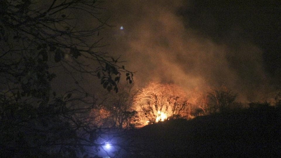 The fist fire was reported at 4pm on Tuesday.