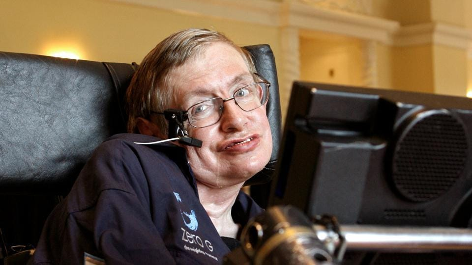 British physicist Stephen Hawking answers questions during an interview in Orlando, Florida April 25, 2007.
