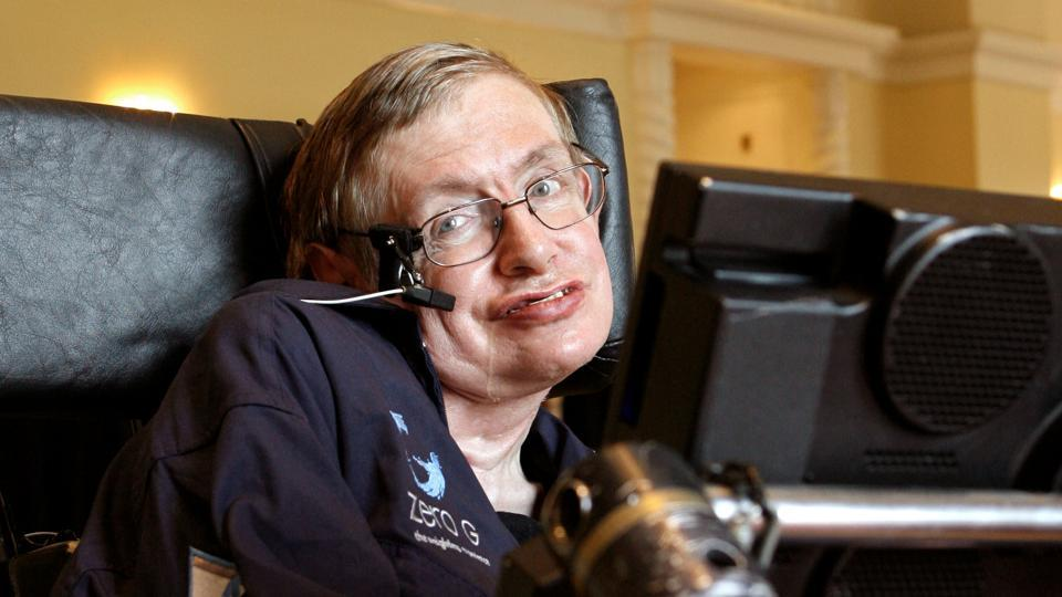 British physicist Stephen Hawking answers questions during an interview in Orlando, Florida on April 25, 2007. Stephen Hawking, modern cosmology's brightest star known for his work with black holes and relativity, died today at his home in Cambridge aged 76. Born on January 8, 1942 -- 300 years to the day after the death of the father of modern science, Galileo Galilei -- Hawking believed science was his destiny. (Charles W Luzier / REUTERS File)