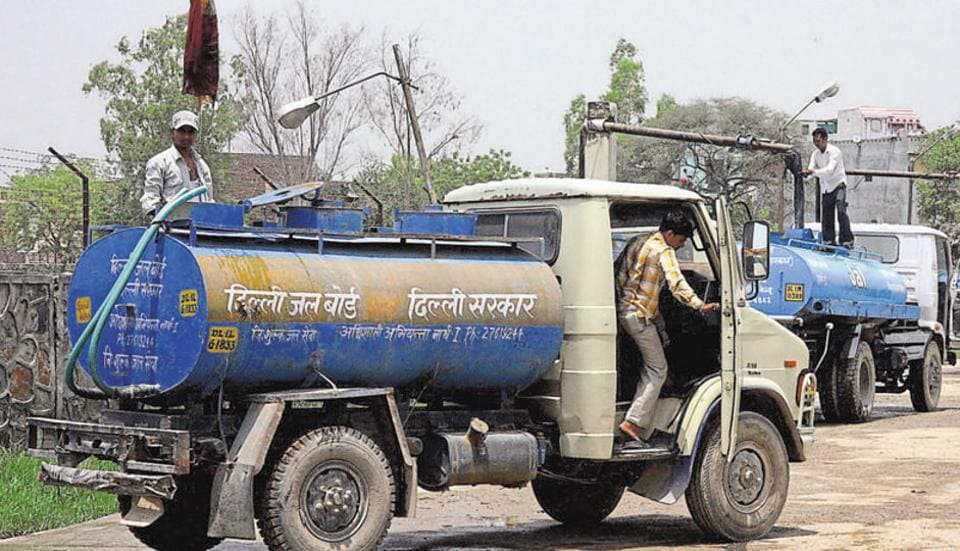 The water volume coming from Haryana is less than the quantity allocated to Delhi