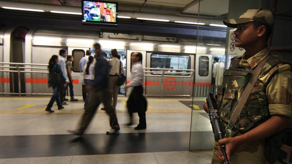 CISF is responsible for the security of Delhi Metro. Drunk people are not allowed on Metro premises.