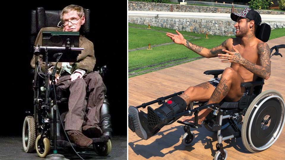 Neymar's 'tribute' to Stephen Hawking was not received well by many Twitter users.