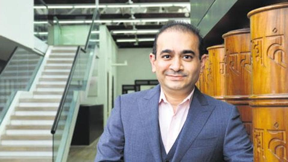 Nirav Modi at his office in Lower Parel, in Mumbai.
