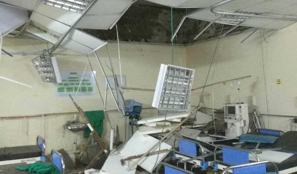 A part of the ceiling collapsed on Thursday morning.