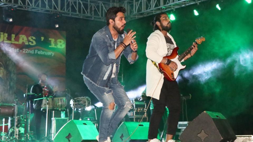 Multi-genre band Tarkash performed at Ullas '18.