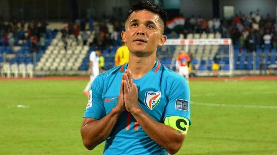 Sunil Chhetri-led Indian football team climbed up to the 99th position in the latest FIFA rankings.