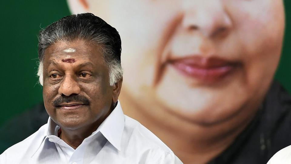 File photo of AIADMK coordinator and deputy chief minister of Tamil Nadu O Panneerselvam.