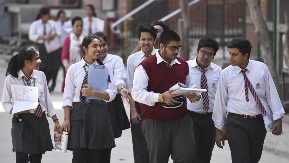 The Central Board of Secondary Education (CBSE)on Thursday said the class 12 accountancy question paper was not leaked after reports emerged of the paper being circulated on WhatsApp. Following the reports, Delhi eduction minister Manish Sisodia had ordered a probe. (Burhaan Kinu / HT Photo)