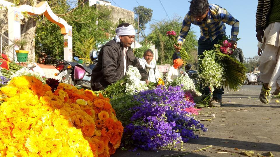 Lucknow,Uttar Pradesh,Flower market