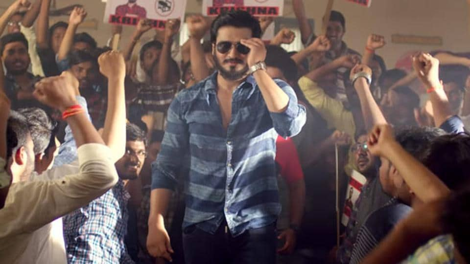 Kirrak Party movie review: Nikhil Siddhartha plays the role of Krishna in the film.