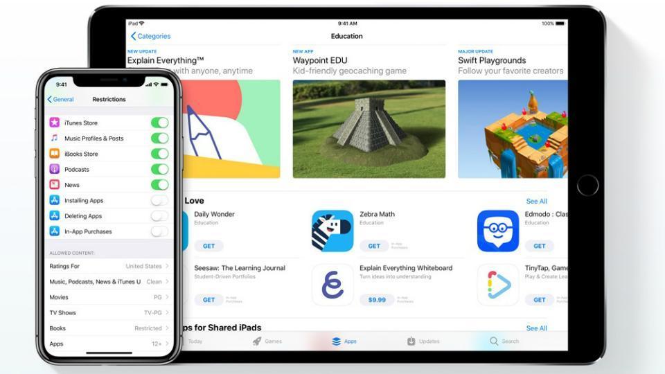Apple,Apple Families page,Apple parental controls