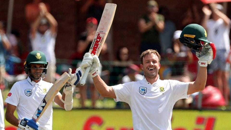 Ab De Villiers scored a brilliant ton to guide South Africa to victory over Australia in the second Test match in Port Elizabeth.