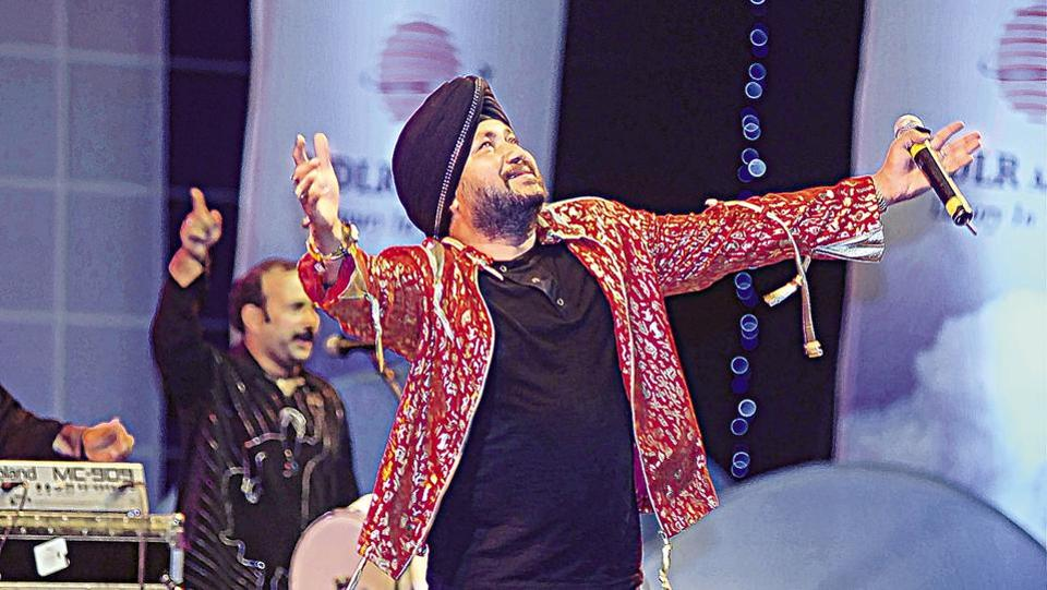 "Punjabi pop singer Daler Mehndi was on Friday convicted in a 2003 human trafficking case by a court in Patiala. He has been given two years in jail. He was, however, granted bail by the court shortly after. Mehndi and his brother, Shamsher Singh, had been accused of illegally sending people abroad disguised as members of his troupe by charging hefty ""passage money."" (Rajesh Kashyap / HT Archive)"