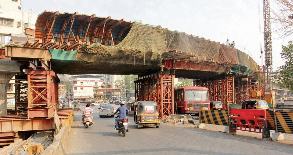 The under-construction Kalwa bridge aims to ease traffic and unclog the busy roads.