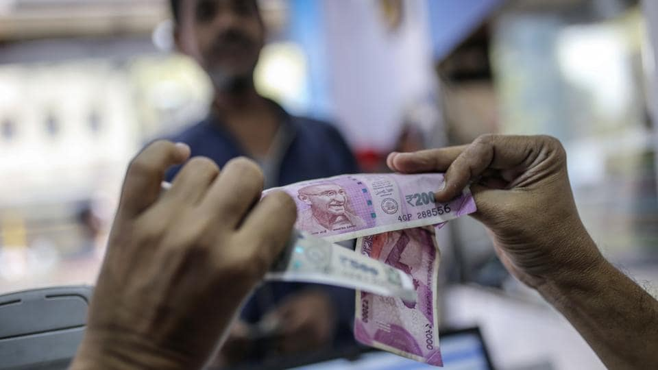 On Thursday, the rupee fell by 10 paise to end at 64.93 against the American currency due to sustained foreign fund outflows amid growing prospects of rate hike by the US Fed next week.