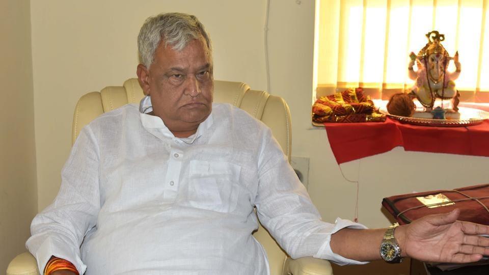 Newly elected Rajya Sabha MP Dr Kirori Lal Meena