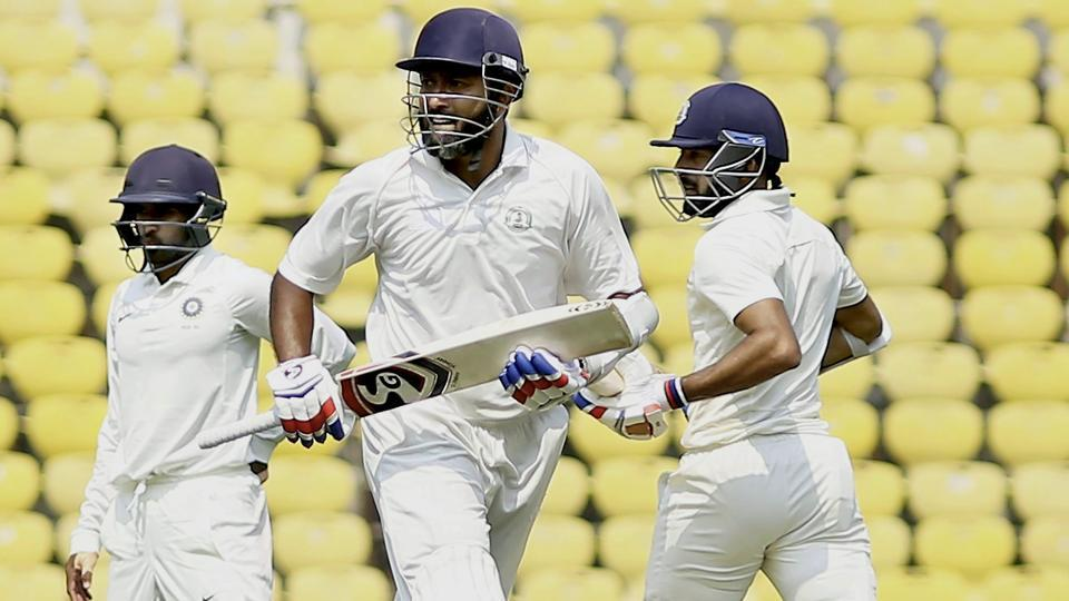 Vidarbha batsman Wasim Jaffer missed out on a triple century on Day 3 of the Z R Irani Cup match against Rest of India at VCA stadium in Nagpur on Friday.