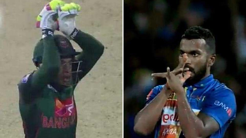 Bangladesh and Sri Lanka players played a thrilling match in the Nidahas Trophy on Saturday, with the game being marred by spats between players.
