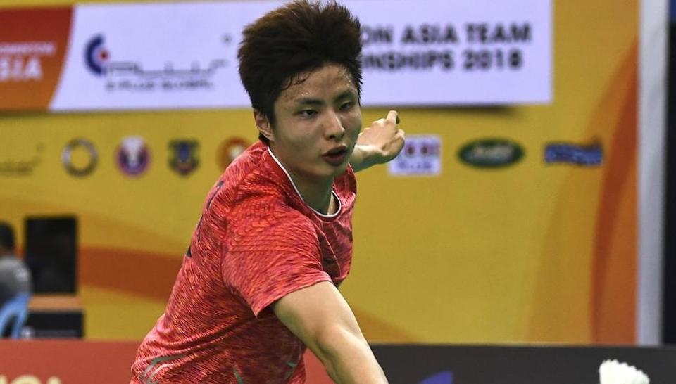 Shi Yuqi beat the fifth-seeded Korean Son Wan Ho 21-17, 21-14 in the semi-final.