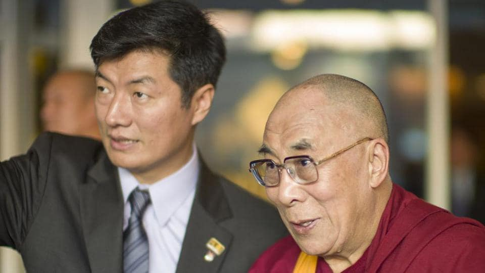 The Dalai Lama and CTA President Lobsang Sangay together in a function in an undated photo.