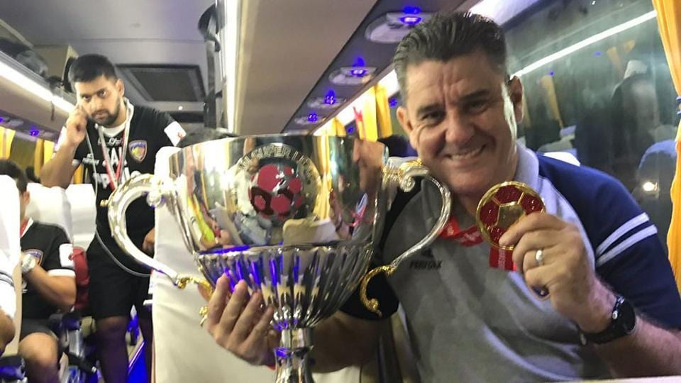 Chennaiyin FC manager John Gregory's contract was extended by a year on Sunday.