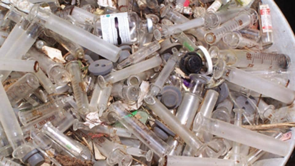 Waste from hospitals, nursing homes, blood banks and veterinary institutions, including used syringes, bandages, amputated body parts and other human and animal bio-waste generated during medical treatment and research are categorised as bio-medical waste.