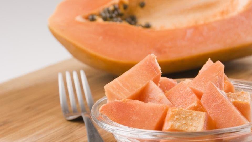 Ginger,papaya,yoghurt