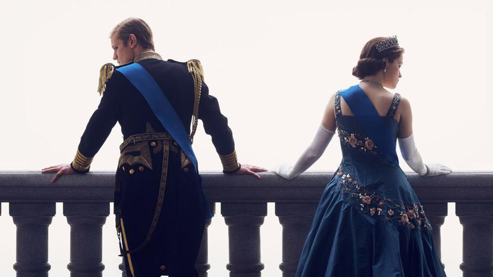 Matt Smith and Claire Foy in the second season of The Crown.