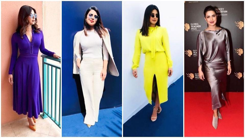 Colourful monochrome is making a comeback in a big way. Just look to actor Priyanka Chopra to work this look.  (Instagram/ Priyanka Chopra)