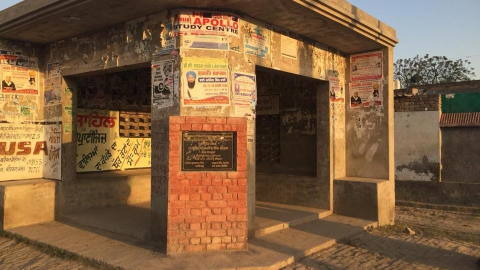 The deserted bus stand at Amru Kotra village in Sunam sub-division.
