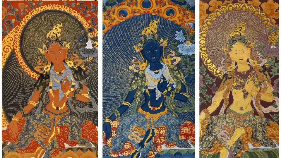 This exhibition in Mumbai showcases Thangka religious art by