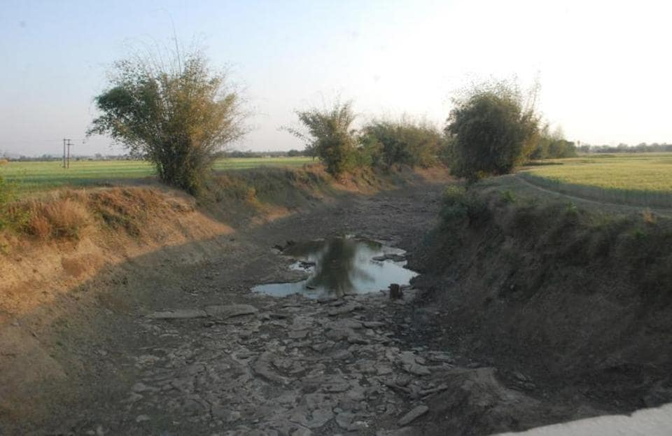 A long stretch of Belan river has dried up in Ghorawal area.