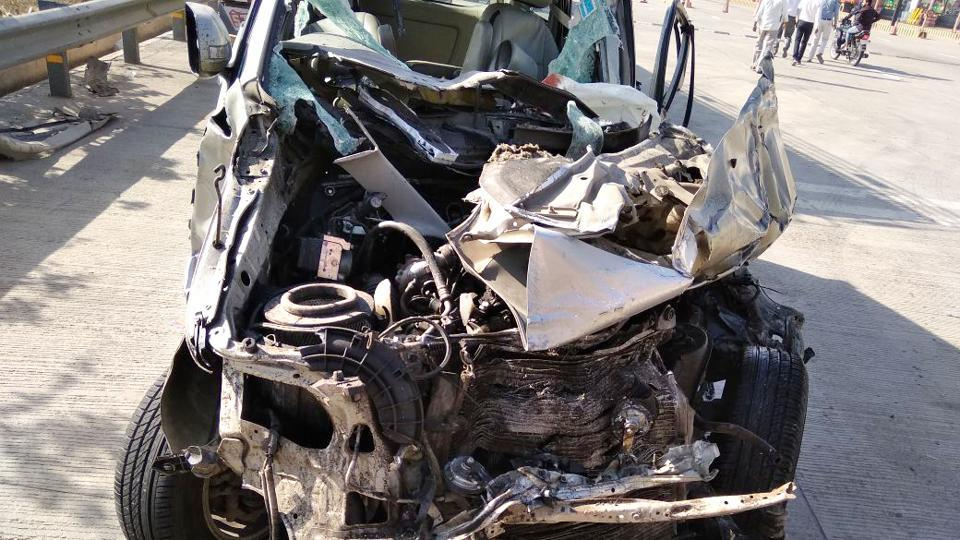 A car rammed into a truck leaving three of them succumbed to injuries at the Yamuna Expressway on Sunday, March 18, 2018.