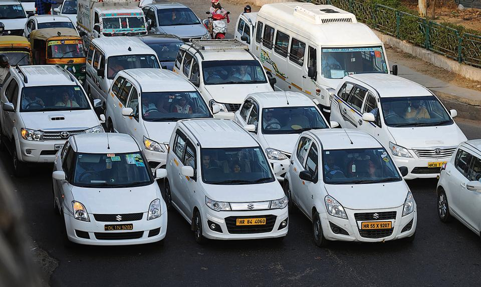 The protest by OLA and Uber cab drivers had a marginal effect on service in city on Monday. Commuters reported a slight surge in rate a longer waiting time.
